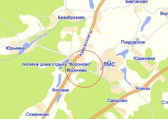 село Вороново на карте
