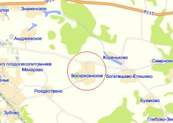 дер. Воскресенское на карте