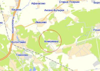 дер. Алексеевка на карте