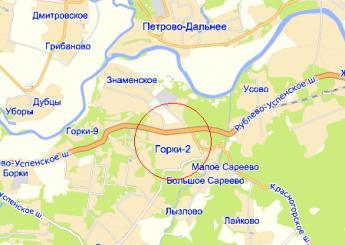 пос. Горки-2 на карте