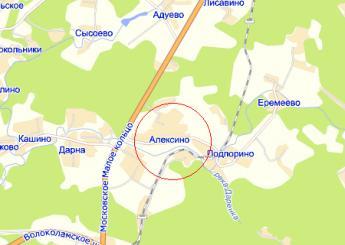дер. Алексино на карте
