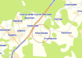 дер. Алексейково на карте