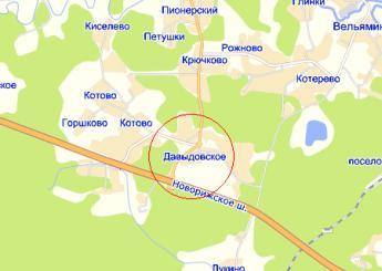 дер. Давыдовское на карте