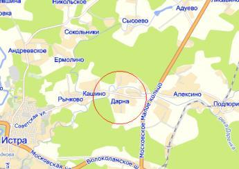 село Дарна на карте
