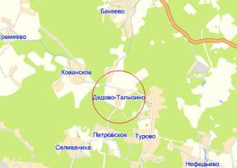 дер. Дедово-Талызино на карте