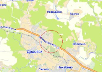 г. Дедовск на карте