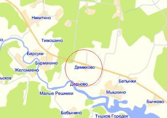 дер. Демихово на карте