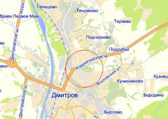 г. Дмитров на карте