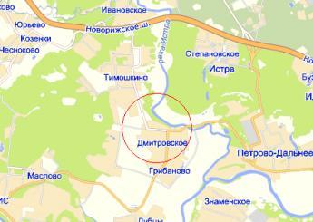село Дмитровское на карте