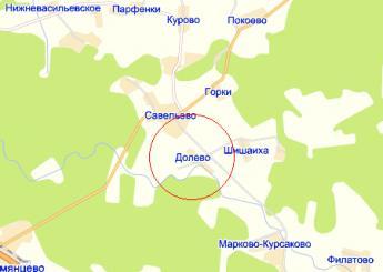 дер. Долево на карте