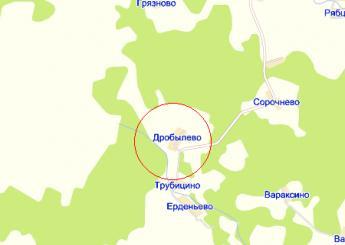 дер. Дробылёво на карте