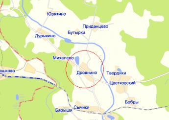 дер. Дровнино на карте