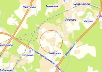дер. Дубининское на карте