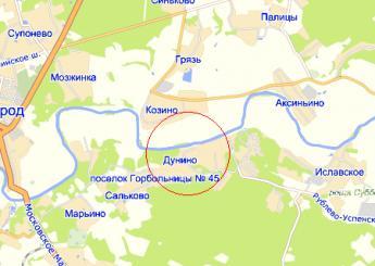 дер. Дунино на карте