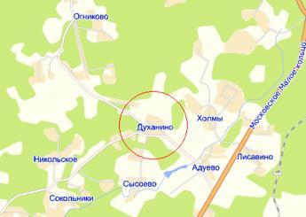 дер. Духанино на карте