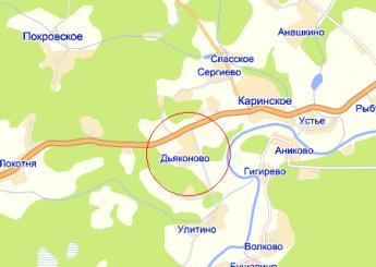 дер. Дьяконово на карте