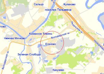 село Еганово на карте