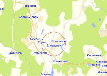 дер. Елизарово на карте