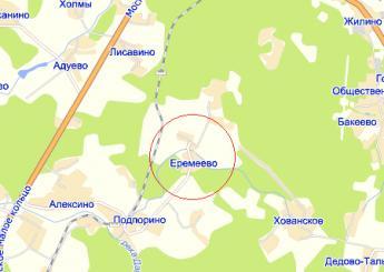 дер. Еремеево на карте
