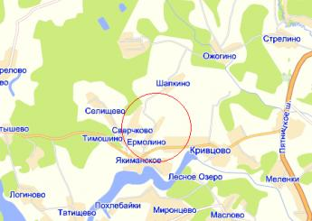 дер. Ермолино на карте