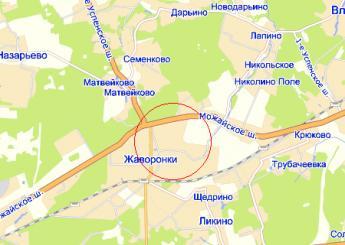 село Жаворонки на карте