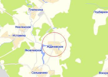 дер. Ждановское на карте
