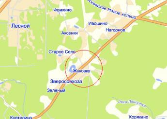 дер. Жуковка на карте