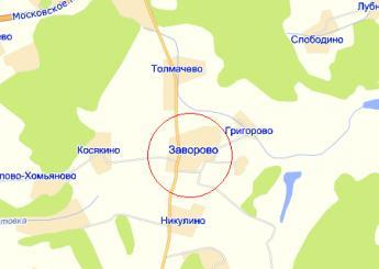 село Заворово на карте