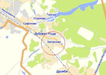 село Загорново на карте