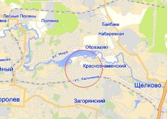 дач.пос. Загорянский на карте