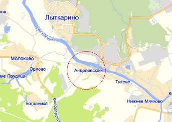 дер. Андреевское на карте