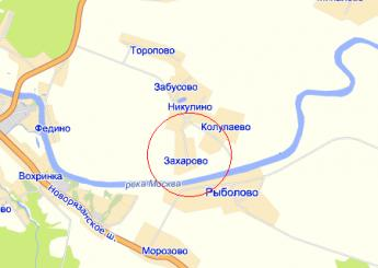 дер. Захарово на карте