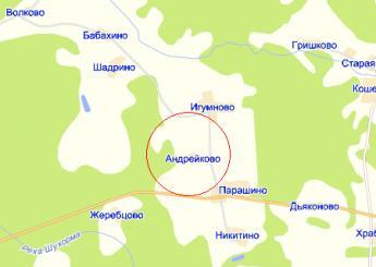 дер. Андрейково на карте