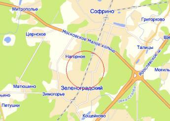 дач.пос. Зеленоградский на карте