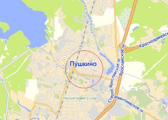 пос. Зелёный Городок на карте