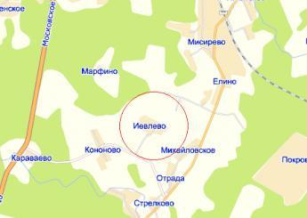 дер. Иевлево на карте