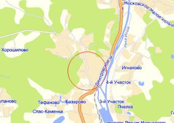 пос. Икша на карте