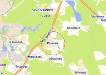 дер. Ильинки на карте
