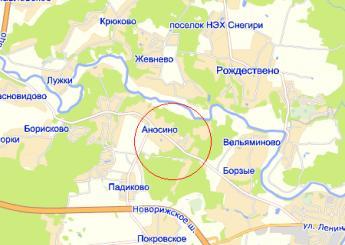 дер. Аносино на карте