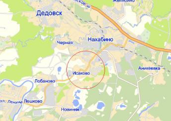 дер. Исаково на карте