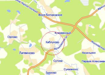 дер. Каблуково на карте