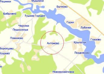 дер. Антоново на карте