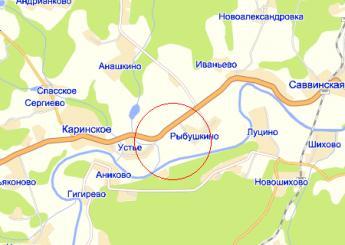 село Каринское на карте