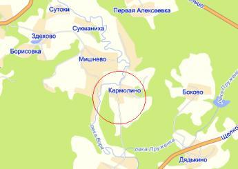 дер. Кармолино на карте