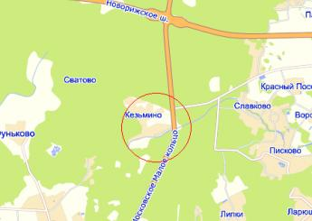 дер. Кезьмино на карте