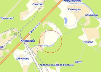 пос. Киевский на карте