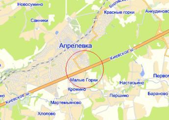 г. Апрелевка на карте