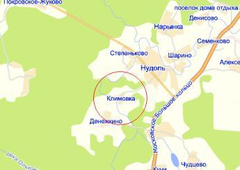 дер. Климовка на карте