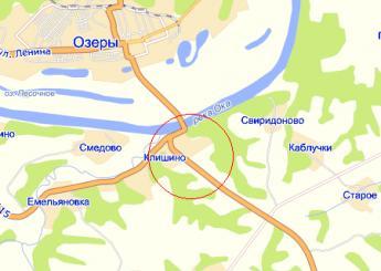 село Клишино на карте