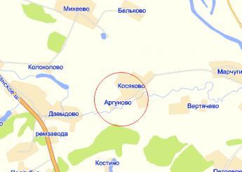 дер. Аргуново на карте